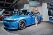 Dodge Charger SRT 2015 on display — Stockfoto