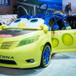 Постер, плакат: Toyota Sienna SpongeBob on display