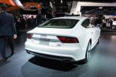 Audi A7 2015 on display — Stock Photo