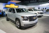Chevrolet Suburban 2015 on display — Stock Photo