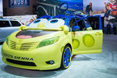 Toyota Sienna SpongeBob on display — Stock Photo