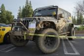 Jeep Wrangler on display — Stock Photo