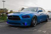 Custom Dodge Charger RT on display — Stock Photo