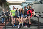 "People without pants in Hollywood during the ""No Pants Metro Rid — Stock Photo"