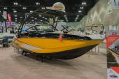 Scarab 215 boat on display — Stockfoto