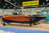 Super Air Nautique boat on display — Stock Photo