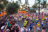 Unidentified runners at the start of the 30th LA Marathon Editio — 图库照片
