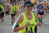 Unidentified runner participating in the 30th LA Marathon Editio — Stock Photo