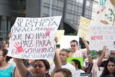 Relatives of the students who disappeared in Mexico packed the s — Stock Photo