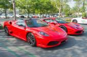 Ferrari 16M and Ferrari 458 on display — Stock Photo