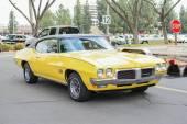 Pontiac Firebird Sprint classic car on display — Stock Photo