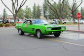 Dodge Challenger classic car on display — Stock Photo