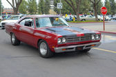 Plymouth Road Runner classic car on display — Stock Photo