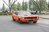 Plymouth Barracuda classic car on display — Foto Stock
