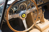 Ferrari interior car on display — Stock Photo
