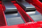 Auto logo Ferrari sul display — Foto Stock