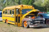 Chevrolet School Bus on display — Stock Photo