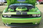 Dodge Challenger RT car on display — Stock Photo