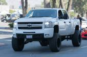 Chevrolet modified truck car ond display — Stockfoto