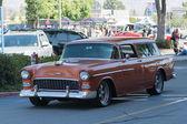 Carro Chevrolet Bel Air Nomad Station Wagon em exposição — Fotografia Stock