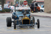 Classic Hot-Rod car on display — Stock Photo