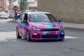 Volkswagen Golf car on display — Foto Stock