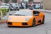 Lamborghini Murcielago car on display — Stock Photo