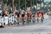 Cyclists competing — Stock Photo