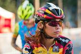 Cyclists before bike race — Stock Photo