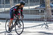 Cyclist competing — Stock Photo