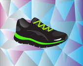 Sport shoe with background — Cтоковый вектор