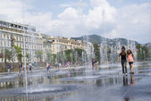 Promenade du Paillon, Nice, France — Stock Photo