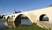 The Pont d'Avignon on the Petit Rhône — Stock Photo