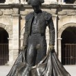 Statue of famous bullfighter in front of the arena in Nimes, France — Stock Photo #57757971