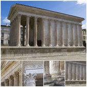 Maison Carree - Roman temple. Nimes, southern France — Stock Photo
