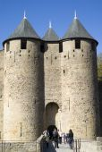 The Fortified city of Carcassonne — Stock Photo
