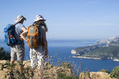 Calanques National Park - ideal trails for cyclists and excursionists — Stock Photo
