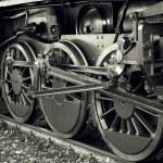 Steam locomotive wheels — Stock Photo #61186521