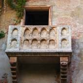 Famous balcony at the Juliet's house — Photo
