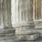 Base of Roman columns — Zdjęcie stockowe