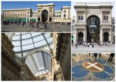Milan, Vittorio Emanuele II gallery — Stock Photo