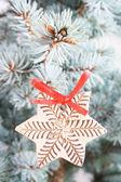 Detalhe da árvore de natal — Fotografia Stock