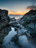 Lusty Glaze Beach at Newquay in Cornwall — Stock fotografie