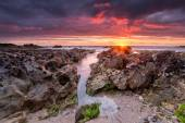 Sunset at Fistral — Stock Photo