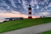 Sunset over Plymouth Hoe — Stock Photo