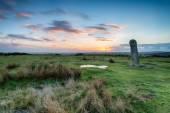 The Longstone on Bodmin Moorin Cornwall — Foto de Stock