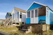 Beach Huts at Mudeford Spit — Stock Photo