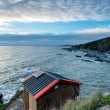 Beach Hut on Cliffs — Stock Photo #61379843