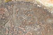 Rock painting, Cape Chersonesus (Hersones) in Crimea near Sevast — Stock Photo