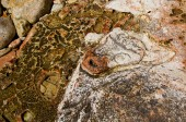 Rock painting, Cape Chersonesus (Hersones) in Crimea near Sevast — Foto de Stock